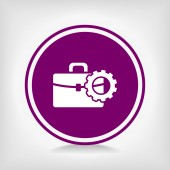 Setting parameters, Briefcase icon — Stock Vector