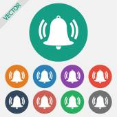 Bell icon — Stock Vector