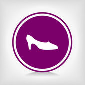 Women's shoes icon — Stock Vector
