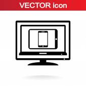 Set of electronic devices icon — Stockvector