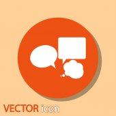 Icona di bolle di discorso — Vettoriale Stock