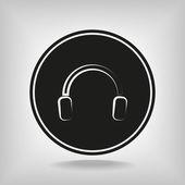 Headphones icon — Vector de stock