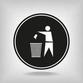 Recyklační znak popisek ikony — Stock vektor