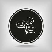 話のバルーン アイコンを笑顔します。 — ストックベクタ