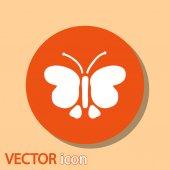 ícone de borboleta — Vetorial Stock