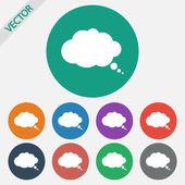 Comic speech bubble icon — Stockvector