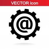 Nastavení parametrů, ikona internet e-mail — Stock vektor
