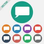 Speech bubble icons black icon — Stock Vector