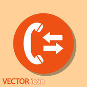 Incoming and outgoing calls sign icon — Stock vektor