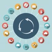 Circular arrows icon — Vetorial Stock
