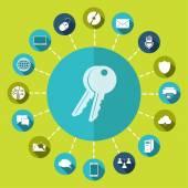 钥匙图标 — 图库矢量图片
