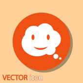 Smile talking bubble icon — Stock Vector
