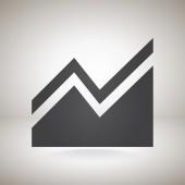 Infographie, icône graphique — Vecteur