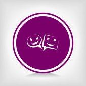Smile talking bubble icon — Vector de stock