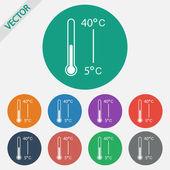 Icône de thermomètre — Vecteur
