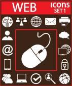 Komputer ikony zestaw — Wektor stockowy