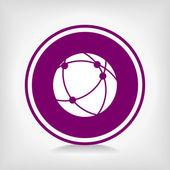 Global technology or social network icon — Vector de stock
