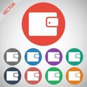 Wallet icon — Stock Vector