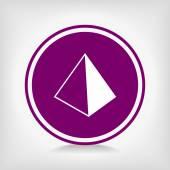 Blank empty pyramid — Stock Vector