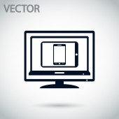 Set of electronic devices icon — Stock Vector