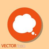 Icona di bolle di discorso comico — Vettoriale Stock
