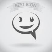 Sourire talking icône bulle — Vecteur