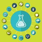 Chemistry Icon — Stock Vector