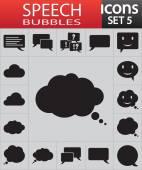 Iconos de discurso burbuja — Vector de stock