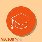 вручение диплома cap значок — Cтоковый вектор