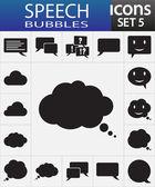 Icone discorso bolla — Vettoriale Stock