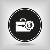 Setting parameters, Briefcase icon — ストックベクタ