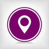 Map pointer flat icon — Cтоковый вектор