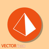 Blank empty pyramid — Stock Vector