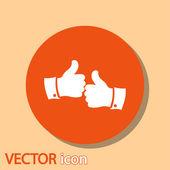 Iconos del pulgar — Vector de stock