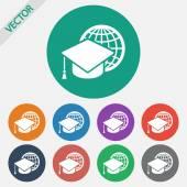 значок интернет обучения — Cтоковый вектор
