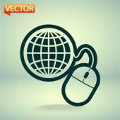 глобального управления, компьютерной мыши значок — Cтоковый вектор