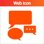 Icône de bulles de discours comique — Vecteur