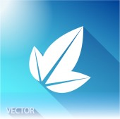 Leaf icon. Flat design style — Vettoriale Stock