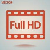 完全な hd ビデオ アイコン — ストックベクタ