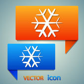 Snowflake flat icon — Stock Vector