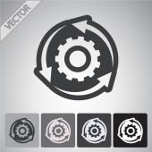 Gear icon design — Stock Vector
