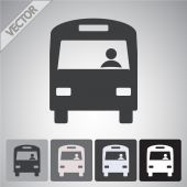 Bus icon design — Stock Vector
