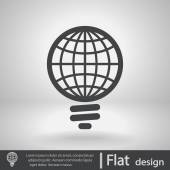 Global light bulb icon — Stock Vector