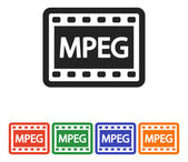 MPEG Video icon design — Stock Vector