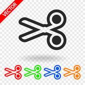 Scissors icon — Stock Vector