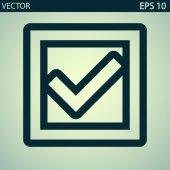 Confirm icon — Stock Vector