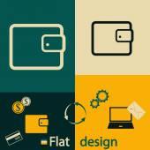 Wallet icon design — Stockvektor