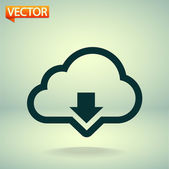 Cloud computing download icon — Stock Vector