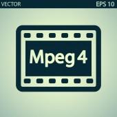 значок видео mpeg 4 — Cтоковый вектор