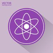 Streszczenie fizyki nauka modelu ikona — Wektor stockowy